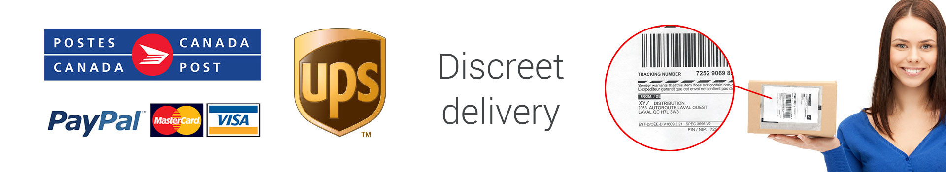 Discreet delivery Secured payments