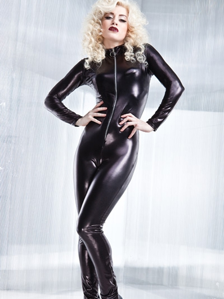 Wetlook Catsuit W/Zipper from Coquette