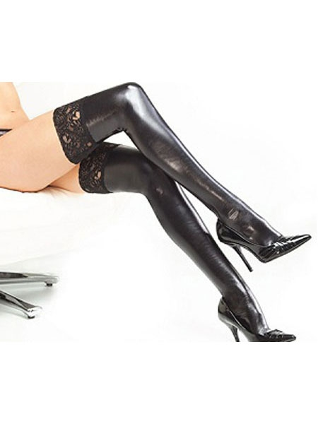 Wetlook Stockings by Darque