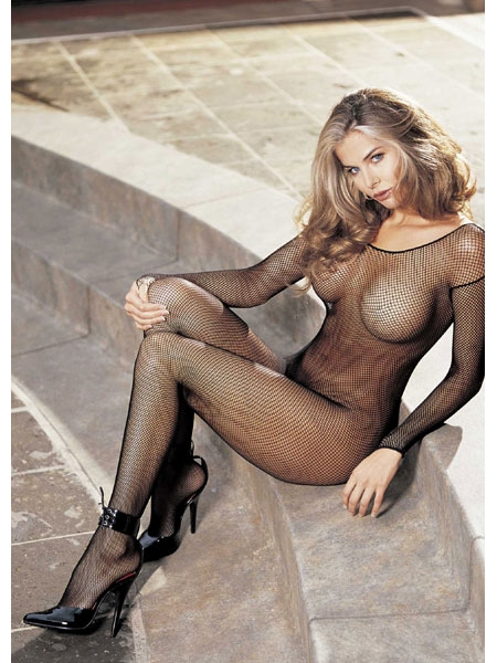 Fishnet Bodystocking Open Front - by Shirley of Hollywood