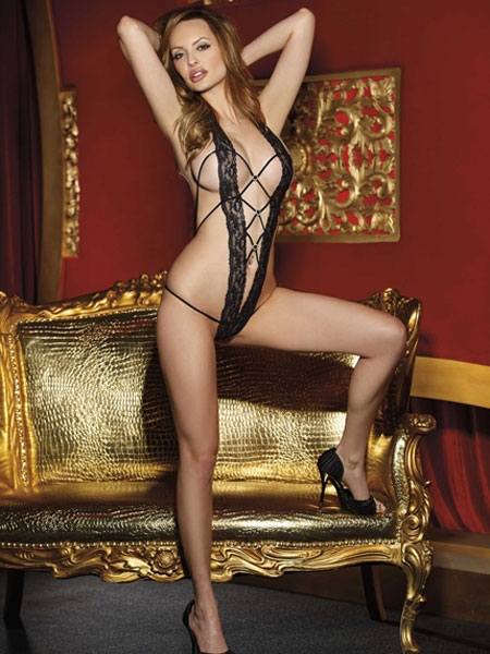 Seductive Stretch Lace Band Teddy - by Shirley of Hollywood