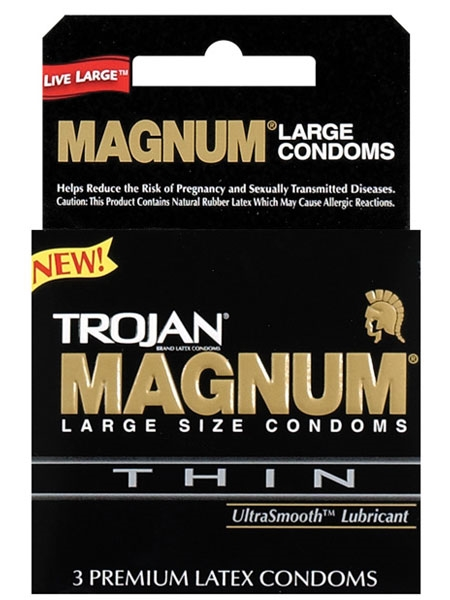 Magnum Thin - Trojan Condoms - Paq of 3