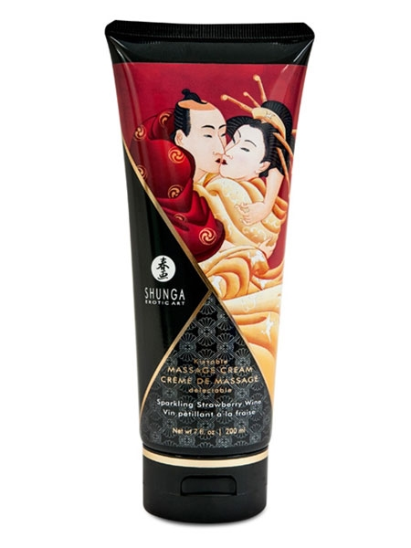 Massage Cream Strawberry Wine - Shunga