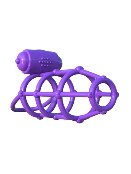 C-Ring Vibrating Climax Cage Purple