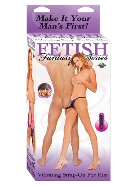 Fetish Fantasy Vibrating Strap-On For Him - Purple