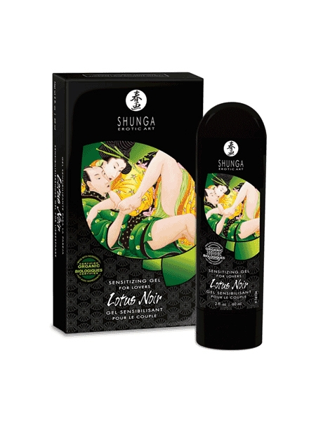 Shunga Lotus Noir sensitizing gel for couple