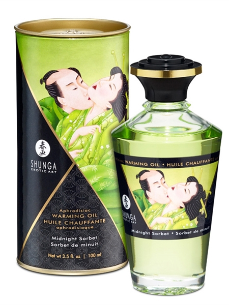 Shunga Warming Oil - Midnight Sorbet