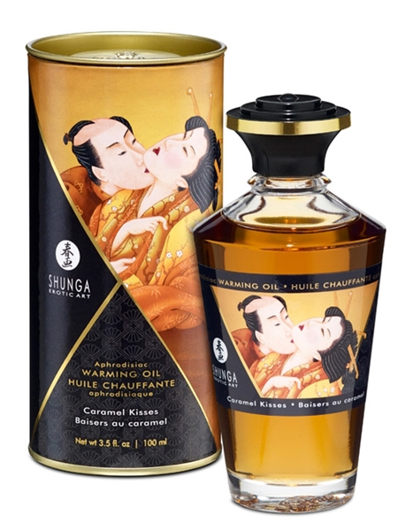 Shunga Warming Oil - Caramel kisses