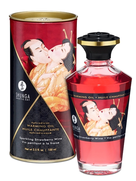 Shunga Warming Oil - Strawberry wine