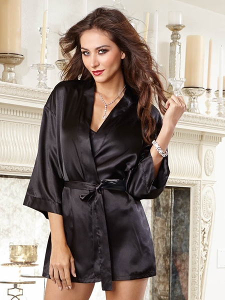 Set Satin Robe 2 pieces - DreamGirl