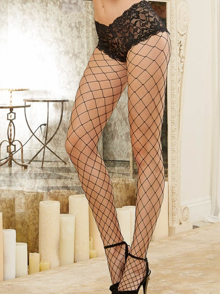 Black Fence Net Pantyhose - Dreamgirl
