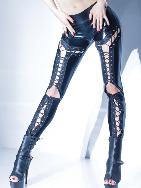 Lace me up pant - Coquette