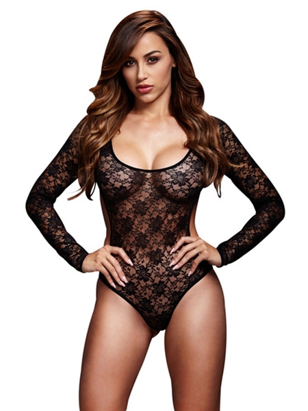 Lace teddy back cutout - Baci