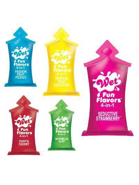 4 in 1 Fun flavours 10ml pillow - Wet