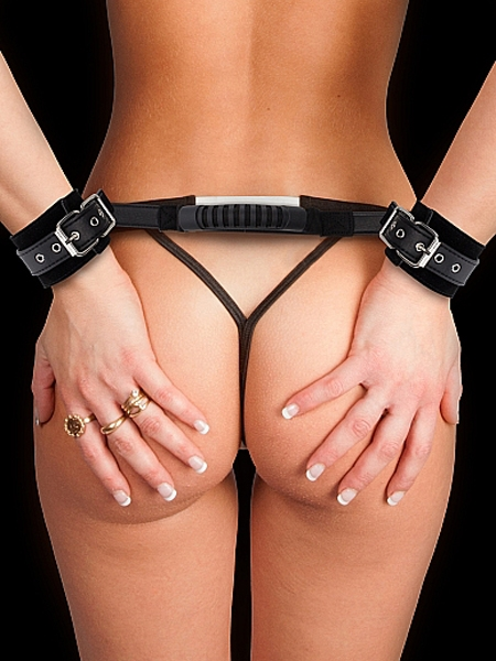 Adjustable Leather Handcuffs - Ouch