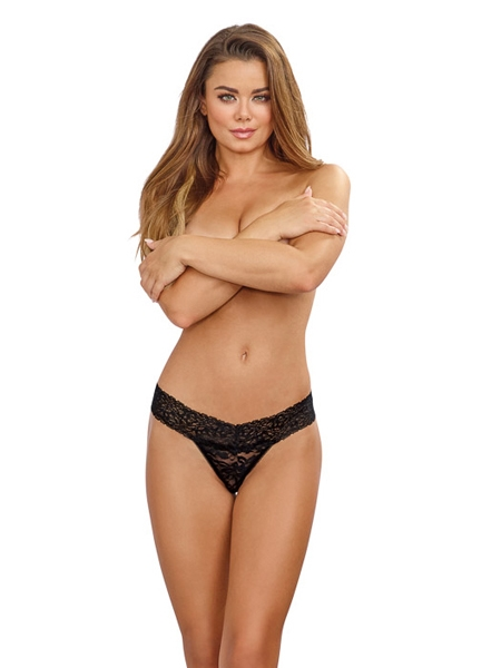 Stretchable Lace Thong - DreamGirl