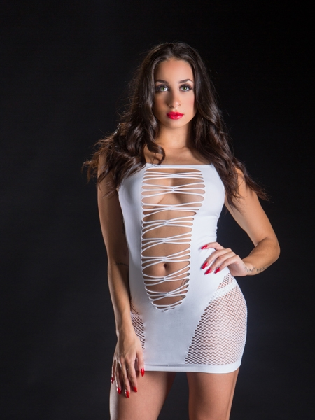 Mesh and Wild String Dress - Bevery Hills Naughty Girl