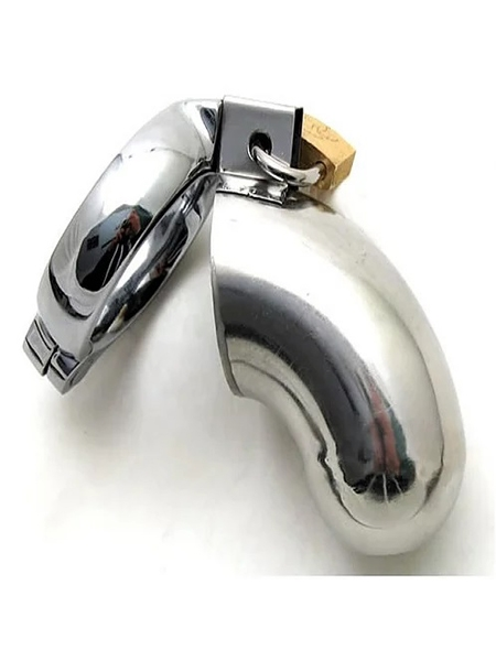 45mm Stainless Steel Chastity Cock Cage - Ego